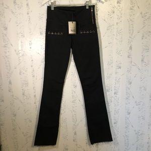 Paige Rosie HW Embellished Shiloh Black Jeans